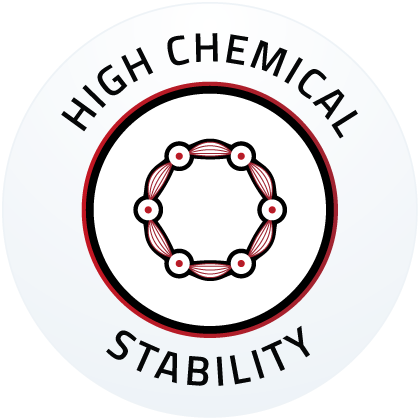 High chemical stability