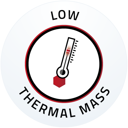 Low thermal mass