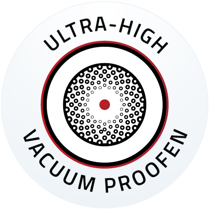 Low outgassing in ultra-high vacuum